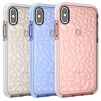 Pour Iphone Xs Max Case Antichoc Doux TPU Motif De Diamant Transparent Case Transparent Iphone Xr 8 Plus 7 6 Plus Case