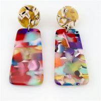 البوهيمي متعدد الألوان المصنوعة يدويا الملحقات أجزاء حمض الخليك المواد للنساء إسقاط أقراط مجوهرات جعل هندسي الحد الأدنى استرخى