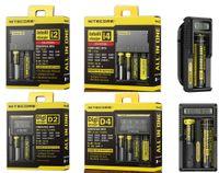 정품 Nitecore D2 D4 UM10 UM20 새로운 I2 I4 Digi 충전기 Intellicharger LCD 디스플레이 E 담배 충전기 18650 18350 18500 14500 배터리
