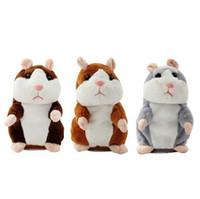 Sprechen Hamster-Maus-Haustier-Plüsch-Spielzeug lernen, elektrische Rekord-Hamster-pädagogische Kinder angefüllte Spielwaren-Geschenk 16cm zu sprechen