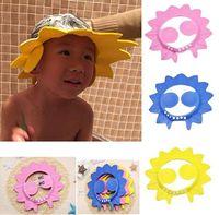 Bebek Akçaağaç Yaprağı Şekli Duş Cap Ayarlanabilir Şampuan Duş Banyo Koruyun Göz Kap Yıkama Saç Kalkanı Şapka