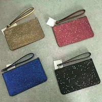 4 farben marke designer kupplung taschen weihnachten sterne brieftaschen armbandlets glänzende glitter sparkle münze geldbörsen für frauen
