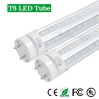 T8 LED Tube 4ft 5ft 6ft V-образная форма Двойные сторон Бордовых вращающейся G13 Для прохладного двери светодиодных лампочек AC85-265V UL
