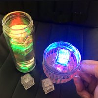 RGB flash led cube lights Ice Cubes lamps Flash Liquid Senso...