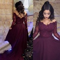 Low Price A Line V Neck Formal Prom Dresses Sweep Train Purp...