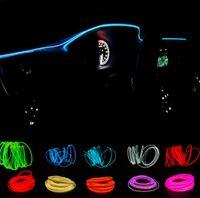 Yeni 2 metre atmosfer lambaları araba iç ortam ışığı soğuk ışık hattı diy dekoratif pano konsol kapısı araba styling