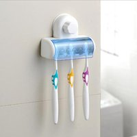 New Plastic wall mount toothbrush holder with suction cup to...