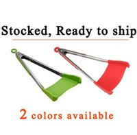 DHL free ship 2 in 1 Kitchen Spatula & Tongs Non- stick Heat ...