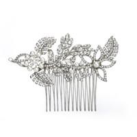 Accesorios nupciales de la boda Crystal Crystal Rhinestone flor peine del pelo joyería dama de honor mujeres joyería del pelo JCH031