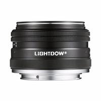 A6000 A5100 A5000 A6300 A6500 NEX-3 NEX-3N NEX-5 NEX-5T NEX-5R NEX-6 Sony E Dağı Alpha için Lightdow 35mm F1.7 APS-C Prime Sabit Manuel Lens