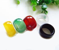 Hot Sales Jade Crystal Ring Trouwringen UE Mooie Sieraden Rode Jade Ringen Agaat Ring Wholesale Finger Ring C1