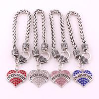 la moda ha inciso il braccialetto del braccialetto dell'aragosta del pendente del cuore del cristallo di classe