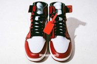TOP Factory Version 1 White Red Designer sneakers Basketball...