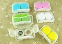 Freeshipping 4 in 1 kit Companion box Tasca Mini lenti a contatto Scatola da viaggio Custodia per occhiali da vista
