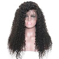 CHAUDE Longue Crépus Bouclés Perruques Perruques De Cheveux Naturel À La Recherche Noir Synthétique Résistant À La Chaleur Sans Colle Avant de Lacet Perruques pour les Femmes Noires FZP22