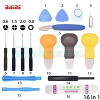 16 en 1 Kit de réparation d'outils en métal Pry Bar Téléphone mobile Démontez Outils Kit pour PC Outils bricolage main Set