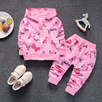 2018 new girls clothes set kids spring autumn clothing butte...