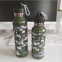 Botellas de camuflaje Sport Wate 17 oz 30 oz Botella con aislamiento de vacío 304 Botella de agua de acero inoxidable Tazas de viaje de gran capacidad con tapas STT009