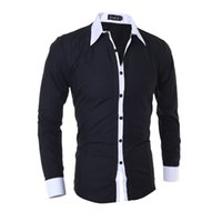 MarKyi designer casual shirts 2017 new  striped patched long sleeve mens dress shirts plus size 2xl