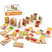 28pcs Domino Blocks Early Education Childhood Wooden Buildin...