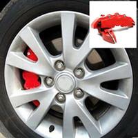 2 pçs / lote ABS Pinça de travão sem fim capa dianteira alicates de freio traseiro alicates de calibre tampa da tampa da tampa para 16 17 polegadas roda