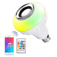 LED Wireless Light Bulb Speaker, RGB Smart Music Bulb, Color...