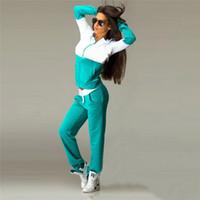 Наружная одежда весна осень женщины спортивный костюм бег комплект пэчворк плюс размер спортивные костюмы с капюшоном женские кофты+брюки 2 шт.