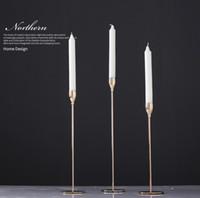 Kaarshouder bruiloft tafel middelpunt goud kristal kandelaar 3 armen hoge kristallen votief kandelaar wo