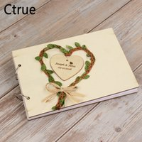 Personalised heart Wreath Wedding Guest Book Rustic wedding ...