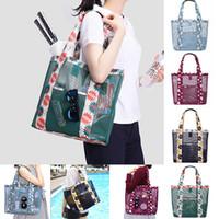 أزياء المرأة traving التسوق شبكة الزهور شاطئ حقائب النساء تخزين حقيبة الكتف حقيبة يد محفظة البقالة المنظم WX9-782