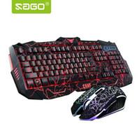 Русская клавиатура переменчивый LED с цветной световой подсветкой мультимедиа эргономичный игровой клавиатуры и мыши набор для игрового компьютера
