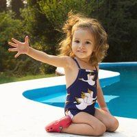 Summer Baby Girls Animal Swimwear Kids one- piece Bowknot Swi...