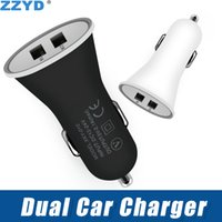 ZZYD Dual Usb Car Charger Portable 2 Ports Adapter 1A For Sa...