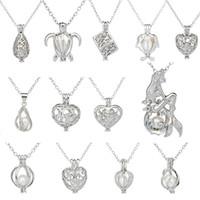 Großhandel Schmuck, Werbegeschenke, natürliche Süßwasser Perlenkette Anhänger, eine Vielzahl von Stilen Halskette, Legierung Halskette