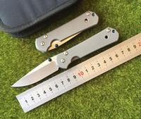 Chris Reeve pequeno Sebenza titanium D2 Dobrável lâmina de faca Tactical camping caça ao ar livre bolso facas de sobrevivência Utilitário Ferramentas
