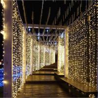 8 mx 4 m 220 V UE / 110 V EUA Plug LED digital de água à prova d 'água cortinas luzes decoração Do Feriado casamento luz de Natal ao ar livre
