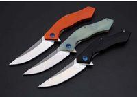 Shirogorov Blue Moon 8CR18MOV G10 mango 58-60HRC cuchillo plegable 1pcs cuchillo de supervivencia acampar