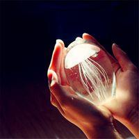 Filo di vetro colorato fatto a mano regalo meduse fermacarte feng shui acquario di cristallo arte mestiere raccoglibile puntelli fotografia