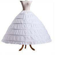 화이트 볼 가운 6 반지 레이어 신부의 웨딩 드레스 페티코트 블랙 신부 파티 Petticoats