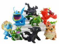 8pcs set How to Train Your Dragon 2 Night Fury Toothless Gro...