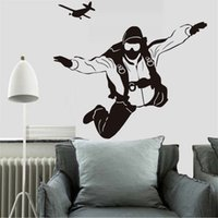 Extreme Sports Skydiving Pilot Plane Wall Decals DIY Home De...