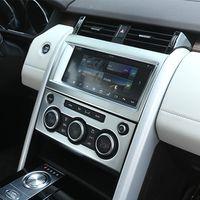 Botón de volumen de la consola botón del perilla del acondicionador de aire etiqueta decorativa penal tapizado de la cubierta para land rover descubrimiento 5 LR5 accesorios interiores