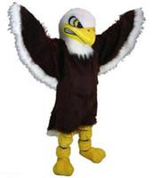 2018 nouvelle vente en gros de fourrure noire Eagle Costumes De Mascotte Pour la vente chaude Adultes Livraison Gratuite Bonne Qualité