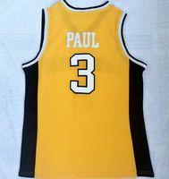 2018 New Mens Wake Wake Forest University Chris Paul 3 Jersey de basket-ball jaune, Traduction pas cher Basketball usure, Dropshipping accepté