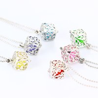 New Hot Sell Pink Colorful Silver Box Necklace Perfume Fragr...