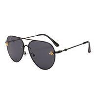 Top selling new óculos de sol das mulheres dos homens designer de marca de boa qualidade moda de metal óculos de sol de grandes dimensões vintage feminino masculino uv400