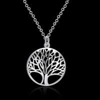 Le collier et pendentif arbre de vie en argent avec bijoux en argent 925 s'articule autour de la foule N802 Promotions en argent perdu!