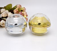 30G empty luxury diamond sphere Acrylic cream container gold...