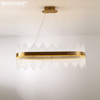 Modern LED Pendant Lighting Crystal rods Hanging Lamp for Di...