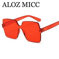 ALOZ MICC lüks güneş gözlüğü moda karelerunglasses 2018 boy şeker renk güneş gözlüğü kadın tasarımcı güneş gözlüğüGafas de sol uv400 A581